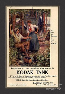 1907 Vintage Kodak Tank Advertising Print by Anne Kitzman