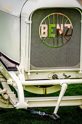 1908 Benz Prince Heinrich Two Seat Race Car Grille Emblem -1696c Print by Jill Reger