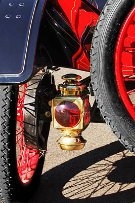 Model T Photograph - 1911 Ford Model T Torpedo 4 Cylinder 25 Hp Taillight by Jill Reger