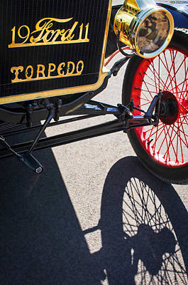 Ford Model T Car Photograph - 1911 Ford Model T Torpedo Grille Emblem by Jill Reger
