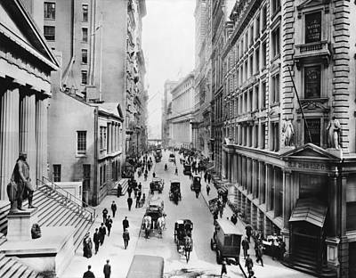 1911 Wall Street Print by Underwood Archives