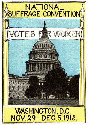 1913 Votes For Women Print by Historic Image