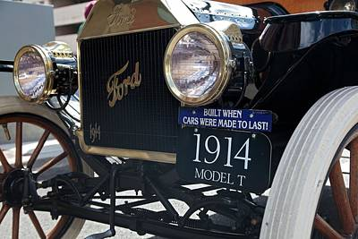 Model T Photograph - 1914 Ford Model T by Jim West