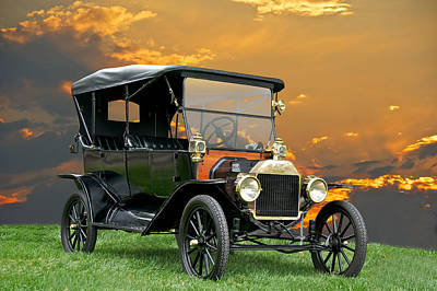 Horseless Carriages Photograph - 1914 Ford Model T Touring Car by Dave Koontz