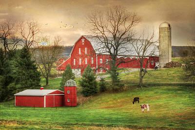 1914 Loysburg Farm Print by Lori Deiter