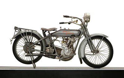 1916 Photograph - 1916 Harley Davidson Model 16 5-35 by Panoramic Images