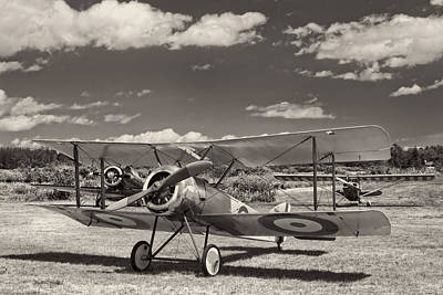 1916 Sopwith Pup Airplane On Airfield Print by Keith Webber Jr