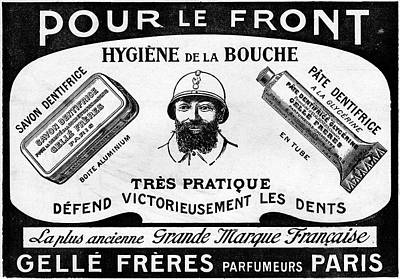 1916 Toothpaste Advert Print by Cci Archives