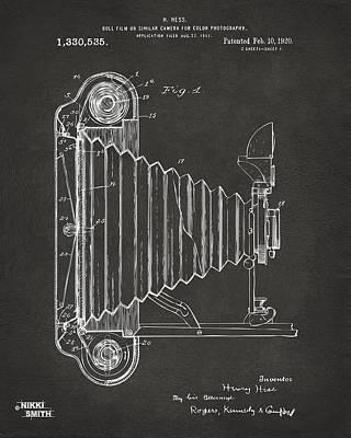 Cave Digital Art - 1920 Hess Camera Patent Artwork - Gray by Nikki Marie Smith