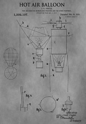Aviator Drawing - 1920 Hot Air Balloon by Dan Sproul