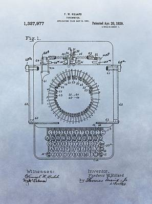 1920 Typewriter Patent Print by Dan Sproul
