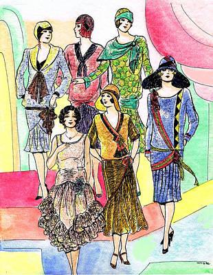 1920s Catalog Dresses Print by Mel Thompson