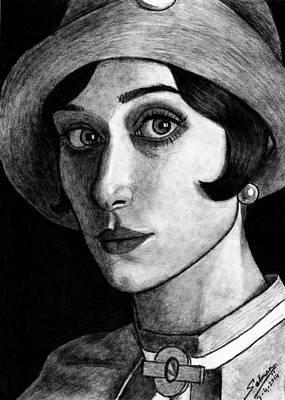 Drawing - Elizabeth Debiki As Jordan Baker by Salman Ravish
