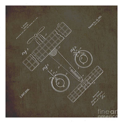 1921 Aeroplane Patent Art Ortgier 1 Print by Nishanth Gopinathan