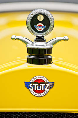 1923 Photograph - 1923 Stutz Kldh Bearcat Hood Ornament by Jill Reger