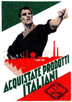 1925 Buy Italian Goods Print by Historic Image