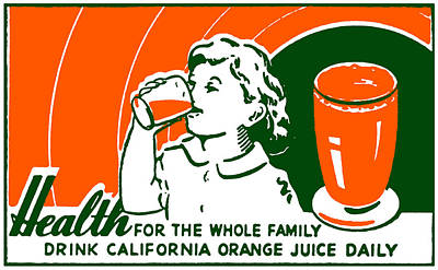 Comfort Painting - 1925 Drink Orange Juice by Historic Image