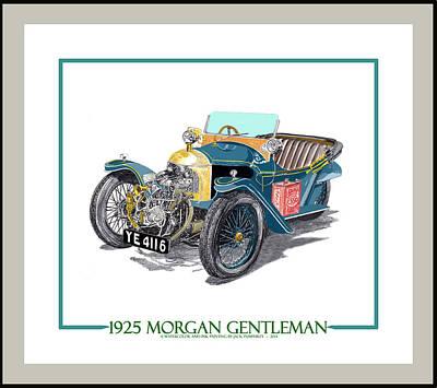Cylinders Drawing - 1925 Morgan Gentleman by Jack Pumphrey