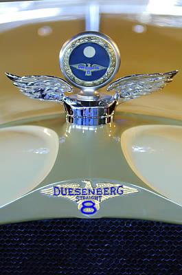 1926 Duesenberg Model A Boyce Motometer Print by Jill Reger
