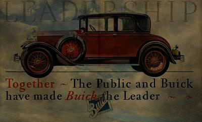 Buick Painting - 1928 Buick Advertisement by Dan Sproul