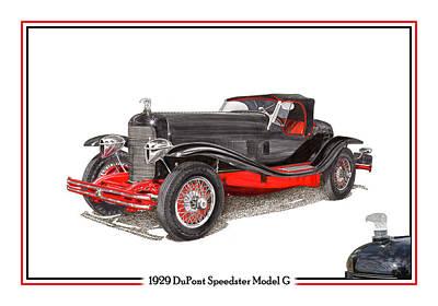 1929 Du Pont Speedster Model G  Print by Jack Pumphrey