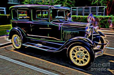 1929 Ford Model A - Antique Car Print by Gary Whitton