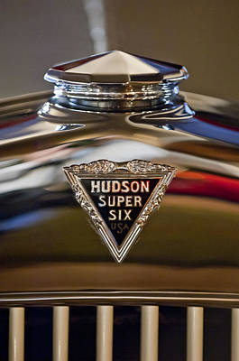 Collector Hood Ornaments Photograph - 1929 Hudson Cabriolet Hood Ornament by Jill Reger