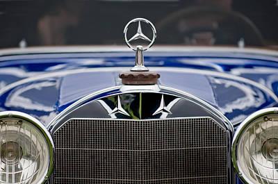 Mercedes Benz Photograph - 1929 Mercedes Benz S Erdmann And Rossi Cabiolet Hood Ornament by Jill Reger
