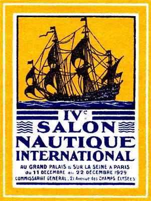 1929 Paris Boat Show Print by Historic Image