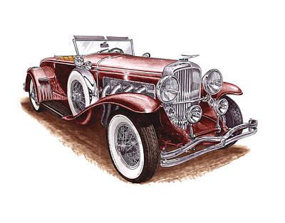 1930 Dusenberg Model J Original by Jack Pumphrey