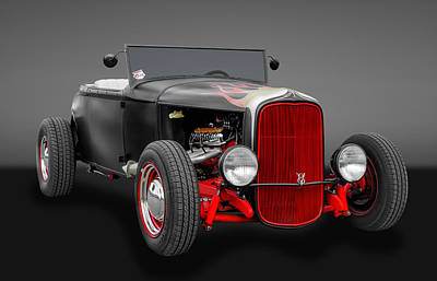 Ford Roadster Photograph - 1930 Ford Hot Rod by Frank J Benz