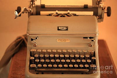 Keypad Photograph - 1930 Royal Typewriter by Cheryl Young