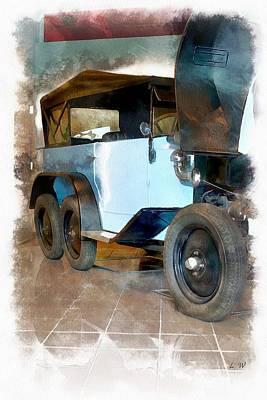 Czech Republic Painting - 1930 Tatra - Automobile  by L Wright