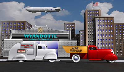 1930s Toy Trucks Original by Stuart Swartz