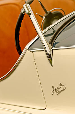 1931 Alfa Romeo 6c 1750 Gran Sport Aprile Spider Corsa Steering Wheel Print by Jill Reger