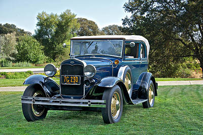 1931 Ford Model A 400 Convertible Sedan II Print by Dave Koontz