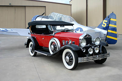 Designs With Photograph - 1931 Willys Knight Phaeton Sports Touring by Jack Pumphrey