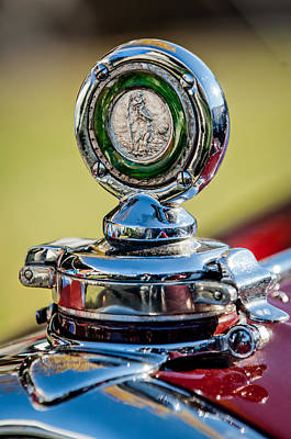 1932 Alfa Romeo 6c 1750 Series V Gran Sport Hood Ornament -0240c Print by Jill Reger