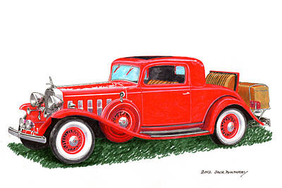 Inaugural Painting - 1932 Cadillac Rumbleseat Coupe by Jack Pumphrey