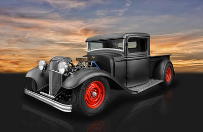 Ford Roadster Photograph - 1932 Ford Truck by Frank J Benz
