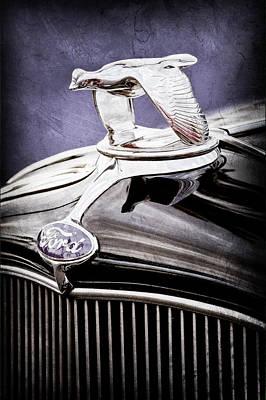1932 Ford V8 Hood Ornament - Emblem Print by Jill Reger