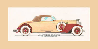 1932 Packard All Weather Roadster By Dietrich Concept Print by Jack Pumphrey