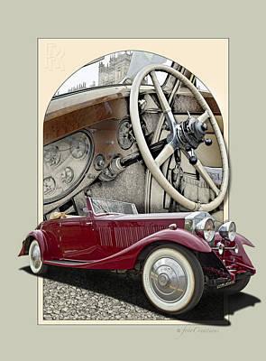 Burl Digital Art - 1932 Rolls-royce Phantom II  by Roger Beltz
