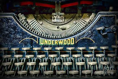 Typewriter Keys Photograph - 1932 Underwood Typewriter by Paul Ward