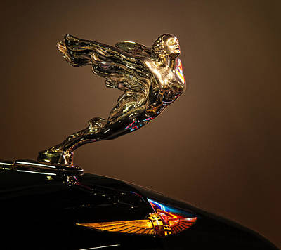 1933 Cadillac Mascot And Emblem Print by Kurt Golgart