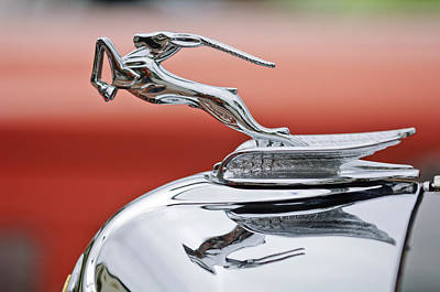 1933 Chrysler Cl Imperial Custom Dual Windshield Phaeton Hood Ornament Print by Jill Reger