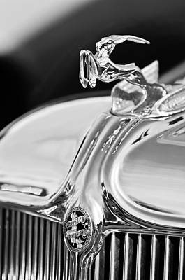 Car Photograph - 1933 Chrysler Imperial Hood Ornament 4 by Jill Reger