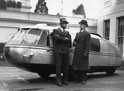 1933 Dymaxion Car Print by Underwood Archives