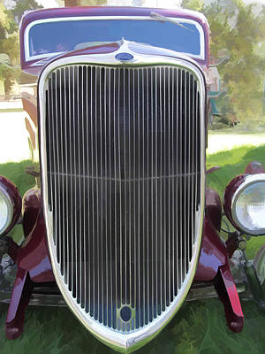 1933 Ford Grille Print by Ron Roberts