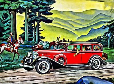 American Painting - 1933 Lasalle Seven Sedan by Florian Rodarte